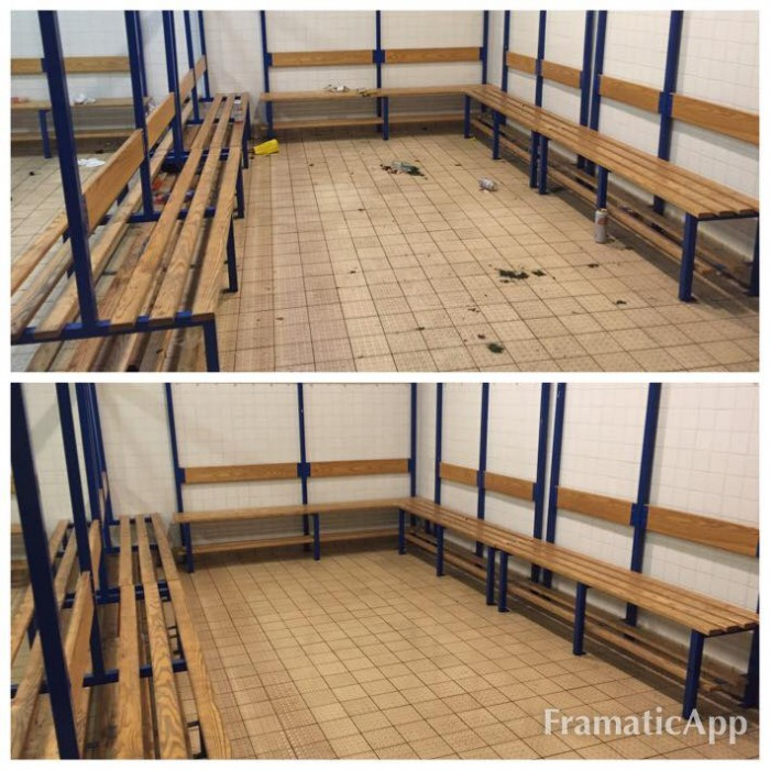 London after sport event cleaning