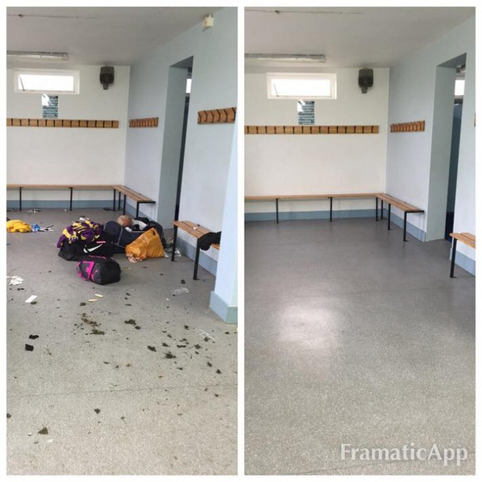 after sport event cleaning